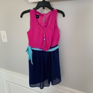 Any Byer Color Block Dress w/necklace. Size 5